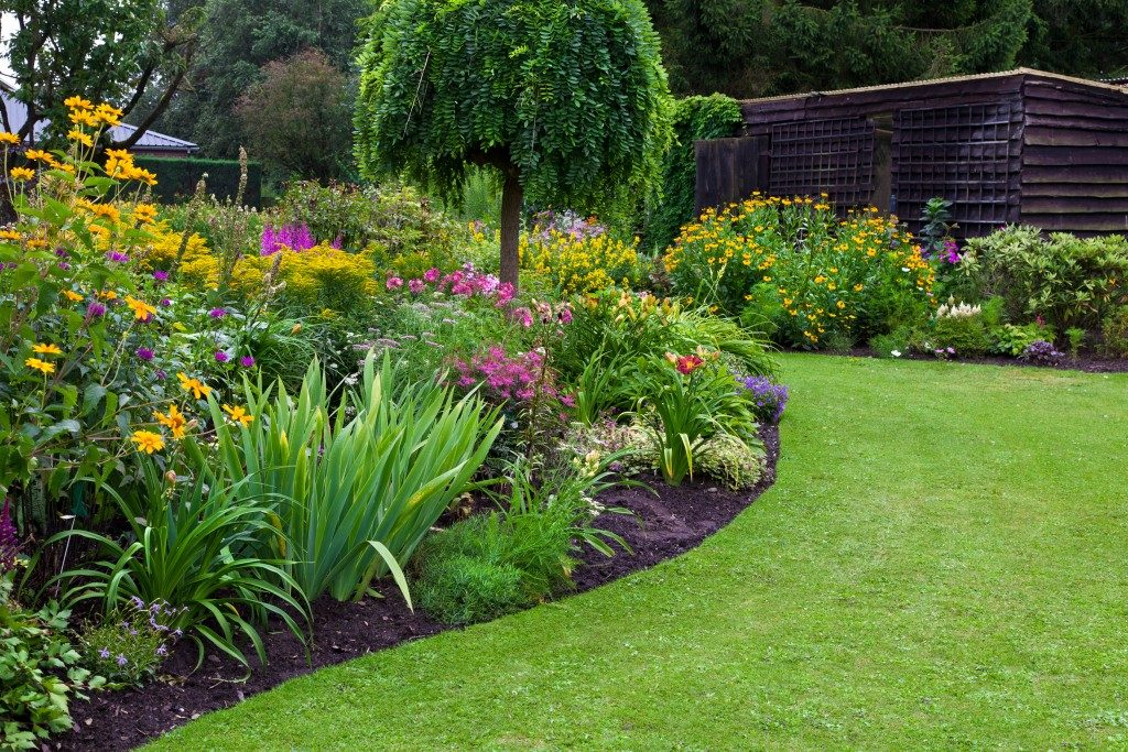 beautifully landscaped garden
