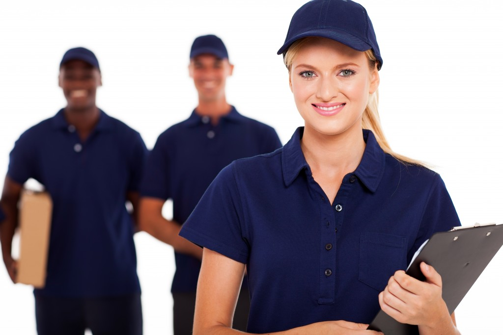 employees in the delivery service