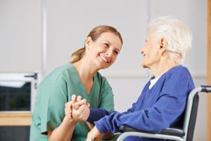 Elderly Woman in Stroke Rehabilitation