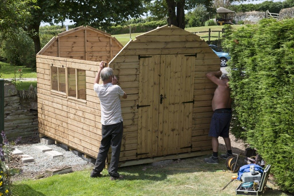 using upcycled wood to build a shed
