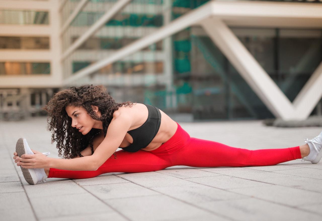 woman in a split