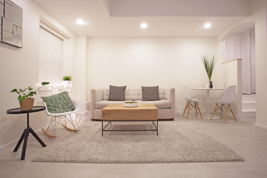 clean minimalist living room