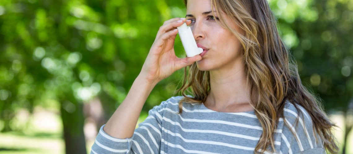 woman with asthma